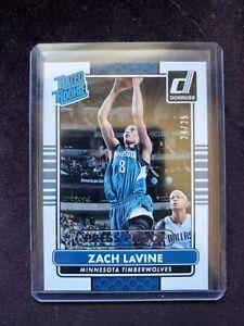 ZACH LAVINE 2014 Donruss #1 Draft Pick SP SILVER RATED Rookie Card RC /25 Bulls