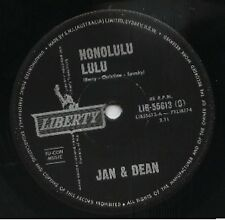 "JAN & DEAN  Rare 1963 Australian Only 7"" OOP Liberty Surf Single ""Honolulu Lulu"""