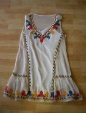 TULAROSA Boho Two Layers Embroidered Ruffled Dress Tunic Size L NEW