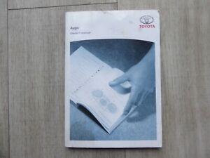 TOYOTA AYGO 05-08 NONFACELIFT HANDBOOK OWNERS MANUAL AUDIO GENUINE PRINT 2006