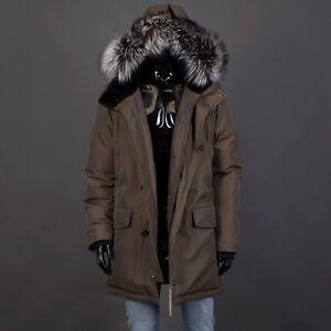 BRIONI 7500$ City Parka Coat With Castorino Fur Lined Hood & Silverfox Fur