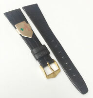 Hirsch Genuine Reptile Leather Dark Brown 19mm Gold Tone Buckle Watch Band