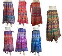 Indian Floral Rapron Printed Women Ethnic Cotton Long Skirt Wrap Around Skirt