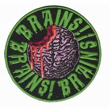 Brains Zombie Eating Horror Dead Kreepsville Embroidered Iron On Applique Patch