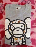 Authentic A bathing ape × kaws Bape T-shirt M Japan