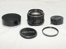 Pentax Super-Takumar 50mm f1.4 lens in Pentax M42 screw mount w/hood & UV filter