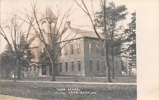 Lancaster WI Late Autumn @ The High School~Open Bell Tower RPPC c1910