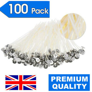100 X 15CM PURE COTTON SMOKELESS CANDLE WICKS FOR HOME DIY CANDLE MAKING CRAFT