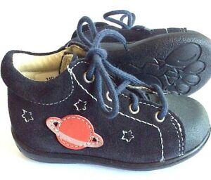 Ricosta Pepino Andy baby first walker US 4 navy suede lace up