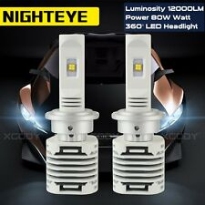 NIGHTEYE 12000LM D1S D2S D3S D4S D1R D2R D3R D4R Car LED Headlights Bulb 80W New