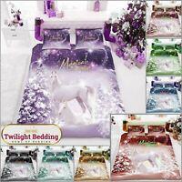 XMAS KING SIZE BEDDING SET  Christmas Duvet Cover Pillow Case  Soft Quilt Covers