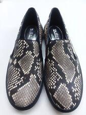 New Michael Kors Black Snake Python Keyton Loafer Slide On 7 Woman's