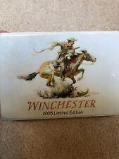 "Winchester Limited Edition 2005 Tin 3 pc Knife Set Grey Design Longest 7.5"" Ii42"