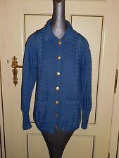 VTG ESCADA SPORT cotton cable knit Cardigan Sweater blazer  Italy Size S/M EUC