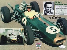 JACK BRABHAM HAND SIGNED 8x11 COLOR PHOTO     LEGENDARY FORMULA 1 DRIVER     JSA