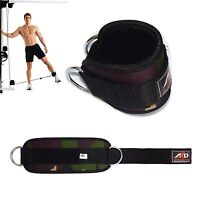 Gym Exercise Ankle Strap Weight Lifting Fitness D Ring Cable Attachment-Gren Cam
