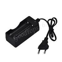 AC 110V 220V Dual Charger For 18650 3.7V Rechargeable Li-Ion Battery EU Plug USA