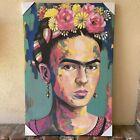 "Frida Kahlo Self Portrait 24""x36"" Color Painting Canvas Print Nice Wall Art New"