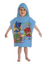 Official PJ Masks Hooded Poncho Boys Kids Swimming Beach Bath Blue Towel