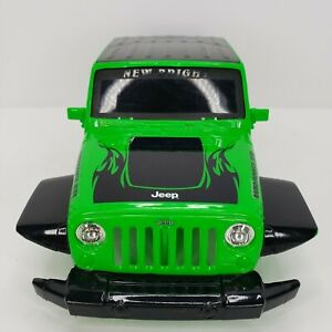 "New Bright Jeep Wrangler Hard Shell Rock Crawler RC Body 14"" Long Green Black"
