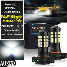 2x AUXITO 5202 2504 PSX24W White LED Fog Driving Light Bulbs Replacement Kit EAF