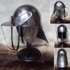 Medieval knight vintage Lobster Pot Helmet 18Gauge For Reenactment LARP Replica