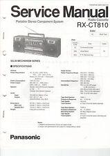 Service Anleitung Manual Heft Panasonic RX-CT810 Radio Cassette Deck (B654)