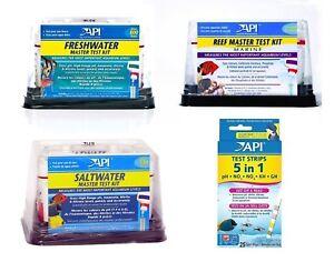 API-MASTER-TEST-KITS-FRESH-WATER-MARINE-REEF-SALTWATER STRIPS WATER FISH TANK