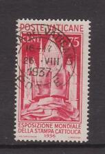 VATICANO-SG 51-f/U - 1936 - 75c-Esposizione Stampa Cattolica