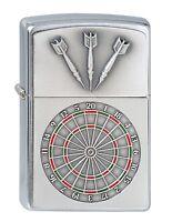 ZIPPO Benzin Feuerzeug Dartboard Emblem Darts Dart 1300091 OVP NEU