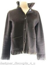 JONES NEW YORK Country NEW $199 Brown wool fringe Jacket button blazer coat SZ S