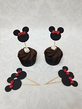 12 x Minnie Mouse Cupcake Toppers Birthday / Babyshower...