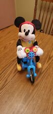 Mickey Mouse on his Bicycle Sounds Plush 11�