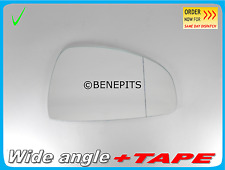 Wing Mirror Glass Wide Angle Audi TT 2006-2014 + Strong TAPE Right Side A019