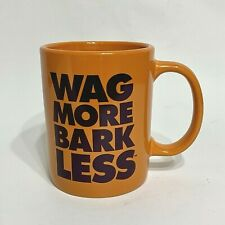 Wag More Bark Less Coffee Mug Cloud Star Lunk 2013 dog lovers Cup Orange Purple