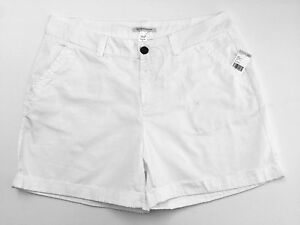 Canyon River Blues Women's size 10 Chino Midi Shorts White NEW