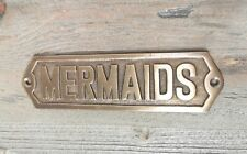 Marine BRASS Door Sign Boat//Nautical Brass Blessing TOILET 5 x 1 Inches...