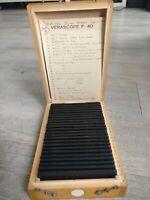 Rare Verascope F 40 stéréoscope 24 vues couleurs voyage Auvergne 1954