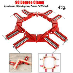 Woodworking 90Degree Right Angle Picture Frame Corner Clamp Holder-Han Clip Tool