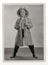 "Shirley Temple 1937 Union Dresden Film Star Series 15 5""X7"" Cigarette Photo Card"