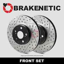[FRONT SET] BRAKENETIC PREMIUM Drilled Slotted Brake Disc Rotors BNP44119.DS