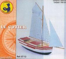 """VOILIER """"LE CÔTIER"""", avec moteur électrique - KIT SOCLAINE 1/50 Réf. CT12"""