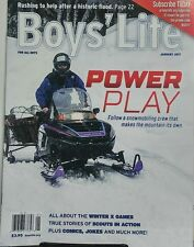 Boys Life Jan 2017 Power Play Snowmobiling Crew Winter X Games FREE SHIPPING sb