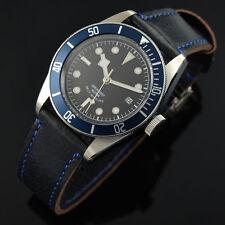 Corgeut schwarz Miyota blau Lünette Zifferblatt Saphirglas Automatik Uhr 005