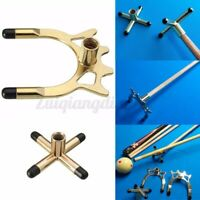 Combo Metal Pool Snooker Billiards Table Cue Brass Cross and Spider Holder