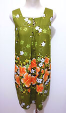 HAWAII VINTAGE '60 UI MAIKAI Abito Vestito Donna Flower Woman Dress Sz.S - 42