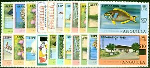 Anguilla 1980 Separation Set of 22 SG421-442 Very Fine MNH