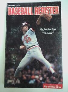 Sporting News 1976 Official Baseball Register Palmer Aaron - FLASH SALE