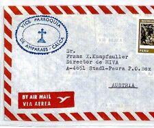 CM152 Peru Cover Superb *CALCA* MISSIONARY CACHET 1979 Air Mail MIVA Austria