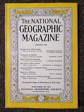National Geographic Magazine August 1941 Bombs over Bible Lands, North Carolina
